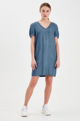vestido tejano manga corta