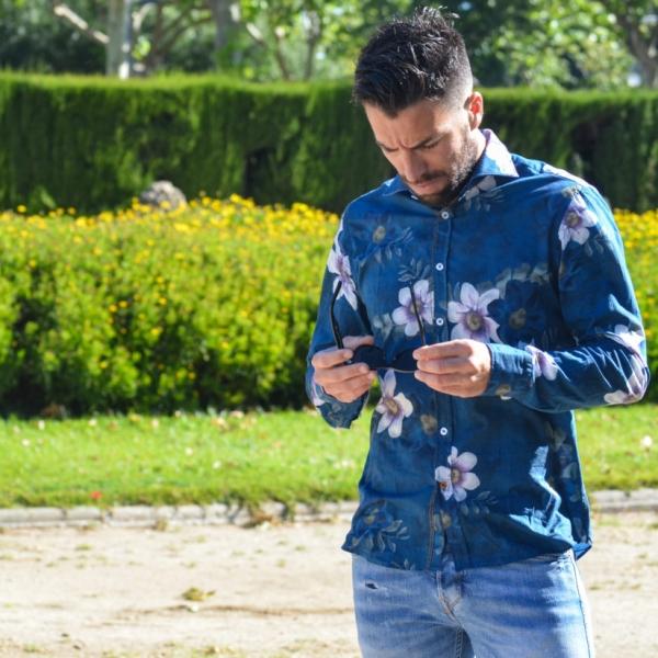 Camisa estampado floral lola algodón 100%