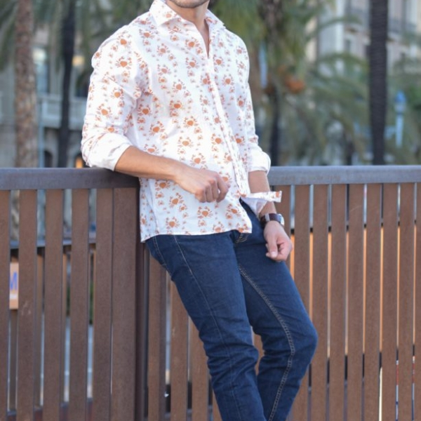 Camisa manga larga americana