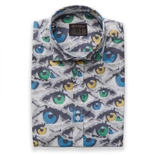 Camisa manga corta escenica algodon 100%